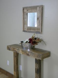 Rustic Entry Table, Narrow Entry Table, Side Table, Console Table, Reclaimed Wood Furniture, Rustic Furniture, Pallet Wood, Home Decor, Wood on Etsy, $175.00