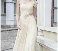 One Shoulder Grecian Style Dresses