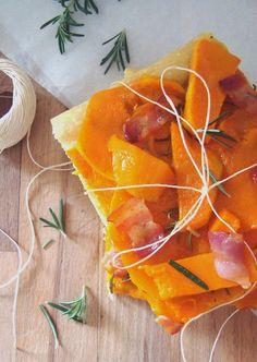 5 SeNtIdOs En La CoCiNa: Focaccia de calabaza y panceta al aroma de romero