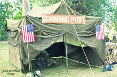 Boy's Military Army Themed Boot Camp Birthday Party Ideas
