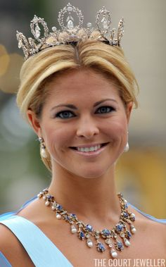 Princess Madeleine wears the Connaught Diamond Tiara (Photo:Pascal Le Segretain/Getty Images) Delicate, antique, and sentimental: the...