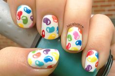 Jelly bean nail art.