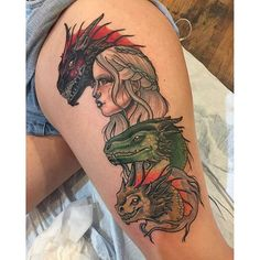 Pay your tributes to the Dragon Queen with tattoos that are as bold and beautiful as the Khaleesi.