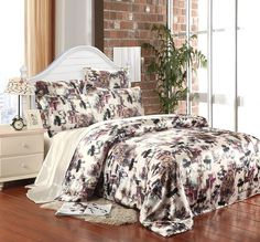 luxury chinese mulberry silk bedding set queen king size duvet cover bedspread sheet bed in a