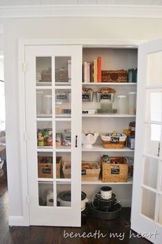 narrow pantry with french doors... in my future?