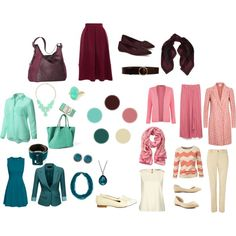 Romantic casual for Irene. Chocolate, pink & teal. by harmoniq on Polyvore featuring мода, H&M, J.TOMSON, Darling, Minuet Petite, Fat Face, Moschino Cheap & Chic, Closet, Zara and Lauren Ralph Lauren