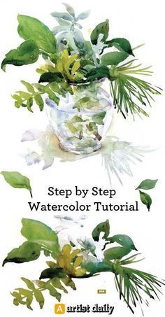 Step by step watercolour tutorial for free! More