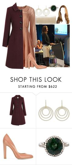 """""""HRH Princess Sophia, Duchess of Lumire"""" by kingdomofborduria ❤ liked on Polyvore featuring Russell & Bromley, Orla Kiely and Gianvito Rossi"""