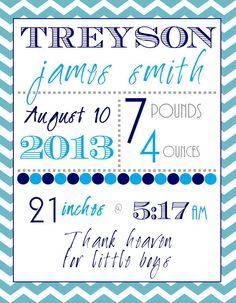 Birth Announcement - BABY BOY