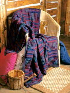 Textured Panels Afghan | Yarn | Free Knitting Patterns | Crochet Patterns | Yarnspirations