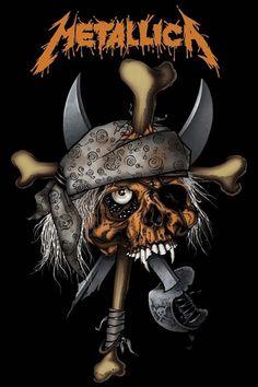 Metallica Pirate Skull