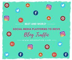 April Blog Traffic: The Best and Worst Social Media Platforms for Blogging Social Media Content, Social Media Tips, Social Media Marketing, Make Money Blogging, How To Make Money, Startup, Blog Writing, Instagram Tips, Blogging For Beginners