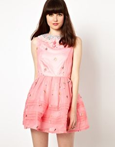 Image 1 of Nishe Prom Dress With Cupcake Lace Embroidery