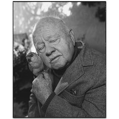 Mickey Rooney at home with his beloved bird, Westlake Village, California 1998  Mary Ellen Mark - Gallery - Portfolio - Celebrities - 228H-034-020