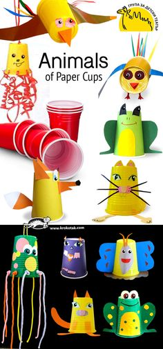 Animals of Paper Cups
