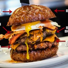 This 'Merica Burger is basically 100% made of bacon. This may be the MOST beautiful thing I've seen
