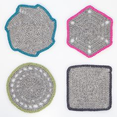 Crochet Coasters $43 for 4!!!!!!  OMG!