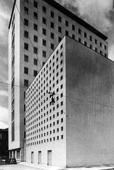 Piero Bottoni e Guglielmo Ulrich edificio per abitazioni, uffici, negozi e cinematografo, milano 1949