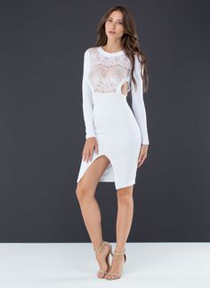You'll ace any fashion test when you slip into this lace stunner.