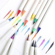 Soft Brush Calligraphy Pen Watercolor Marker Brush Fineliner