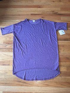 LulaRoe M Irma shirt in purple marble  #LulaRoe #Irma