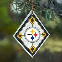 Pittsburgh Steelers Art Glass Ornament - Official Online Store