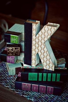 Vintage books made into unique Home Decor! Custom Monogram Book Letters! The Cutest Accents! The Perfect Gift!