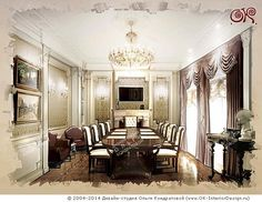 Переговорная в особняке http://www.ok-interiordesign.ru/ph32_house_cottage_interior_design.php