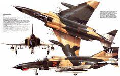 "Mc.Donnell Douglas F-4 Phantom 2   USA   469th TFS, 388th TFW, USAF   F-4E-35-MC ""Belly Rou""   JV (67-0308) Air Vietnam, Vietnam War, Military Jets, Military Aircraft, Vw Bus, Auto Union 1000, Wiking Autos, Reactor, First Indochina War"