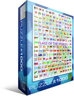 Flags of The World 1000-Piece Puzzle