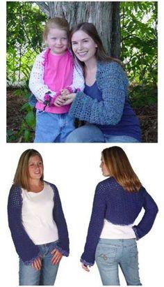 Super Simple Shrugs Crochet Pattern