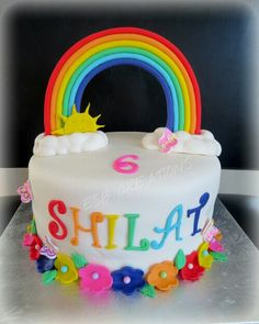 Rainbow cake. Very colorful and bright!