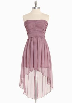 Asymmetrical Chiffon Dress In Dusty Purple