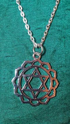 Chakra Silver Tone 4th Chakra Heart /Anahata Pendant 18 to 22  Necklace d4