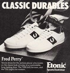 vintage Fred Perry tennis shoes