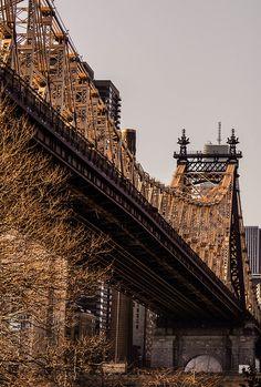 NYC. Queensboro Bridge in the morning