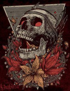 For Jobedu (clothing company) on Behance Dark Artwork, Dark Art Drawings, Skull Drawings, Skull Illustration, Skeleton Art, Skull Wallpaper, Dark Tattoo, Simple Wallpapers, Arte Horror