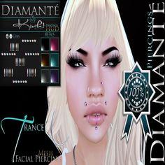 :Diamante: &{Kink!}: Trance Facial Piercing (Original Mesh)