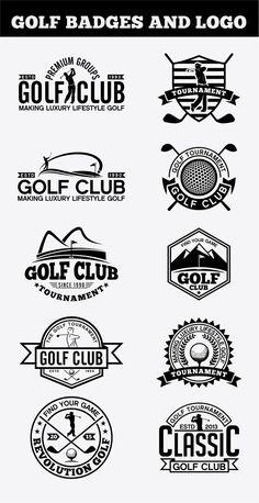 Golf Badges-Stickers & Logos by shazi on Creative Market - Deportes