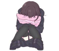 It is a cute sticker of kurumi-chan. Chibi Manga, Manga Anime, Dibujos Anime Chibi, Cute Anime Chibi, Me Anime, Cute Anime Pics, Sad Anime Girl, Kawaii Anime Girl, Anime Art Girl