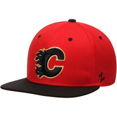 8cdf3cbd0af49 Zephyr Calgary Flames Red Black Z11 Snapback Adjustable Hat. Hockey Teams CalgaryNhlRed ...