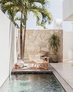 Villa Lane – Bali How dreamy is this space? From our latest collaboration with , styled by The House On Beach Road and shot [. Outdoor Spaces, Outdoor Living, Outdoor Decor, Villa, Exterior Design, Interior And Exterior, Small Patio, Pool Designs, Backyard Designs
