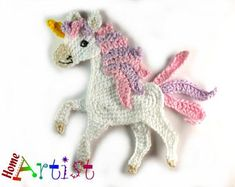 Crochet Applique Horse or Unicorn
