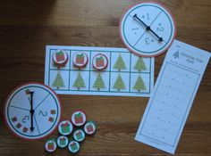 Christmas Tree Fill The Frame:  Ten Frame counting and basic addition math game for pre-k, and kindergarten