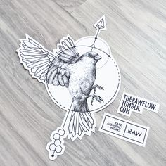 Dotwork geometric sparrow bird tattoo design - for Marcus ig: @marcuspjohansen
