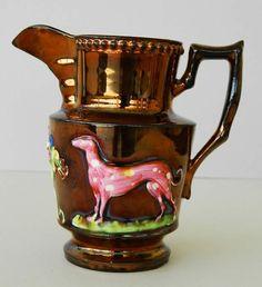 rare copper lustre jug - Google Search