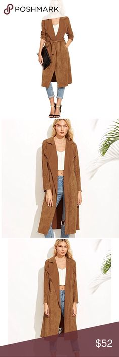 NEW Camel 🍂 autumn trench coat Fall must have!!! Adorable cancel trench coat!! 💯 % polyester  X-Small: Length: 44.1 Inch, Bust: 35.4 Inch, Sleeve Length: 27.6 Inch Small: Length: 44.5 Inch, Bust: 37 Inch, Sleeve Length: 28 Inch Medium: Length: 44.9 Inch, Bust: 38.6 Inch, Sleeve Length: 28.3 Inch Large: Length: 45.3 Inch, Bust: 40.2 Inch, Sleeve Length: 28.7 Inch Sweaters Cardigans