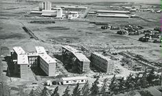 Nairobi's present-day Landmawe flats under construction in the These were meant to be railway workers' living quarters. Nairobi, Present Day, Under Construction, Paris Skyline, 1950s, Flats, Water, Travel, Loafers & Slip Ons