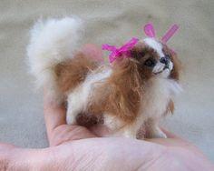 OOAK Miniature Cavalier King Charles Spaniel Dog  by malga1605