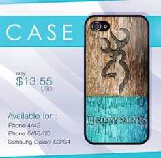 browning deer on wood mint case wood iphone case by SIMPELMonogram, $14.99